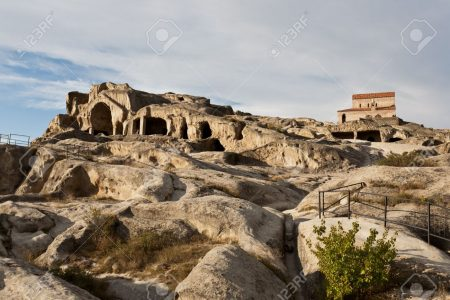 16528835-Old-cave-city-Uplistsikhe-in-Caucasus-region-Georgia--Stock-Photo